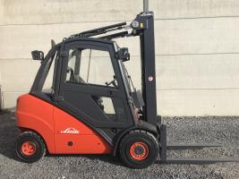 Linde H30D heftruck triplex diesel 3 ton (211)